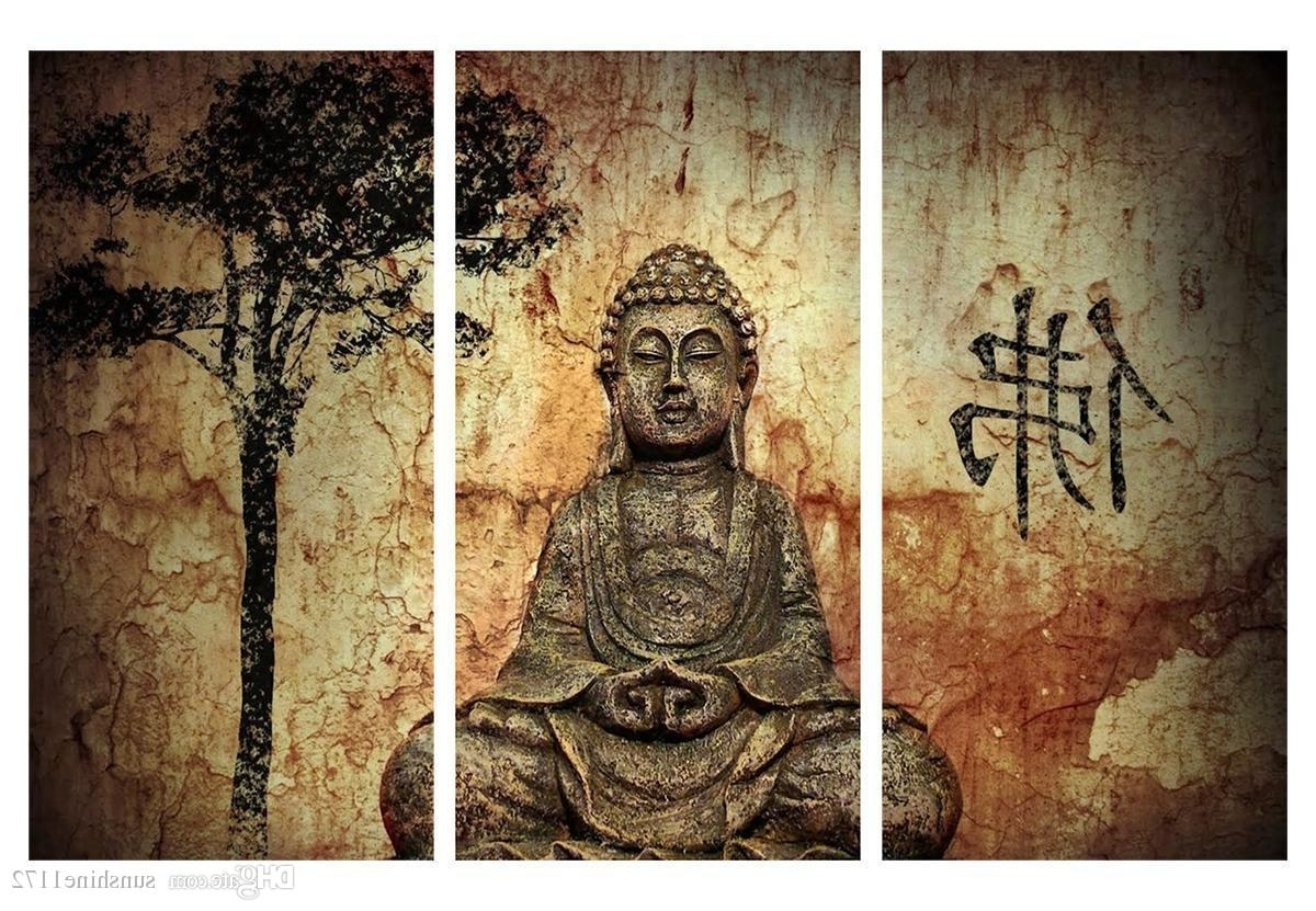 Trendy 2018 Buddha Poster Print Painting No Frame Canvas Wall Art Decor In Traditional Wall Art (View 12 of 15)