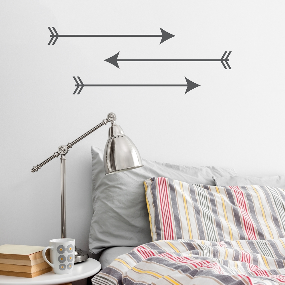 Trendy Arrow Trio Wall Art Decal For Arrow Wall Art (View 20 of 20)