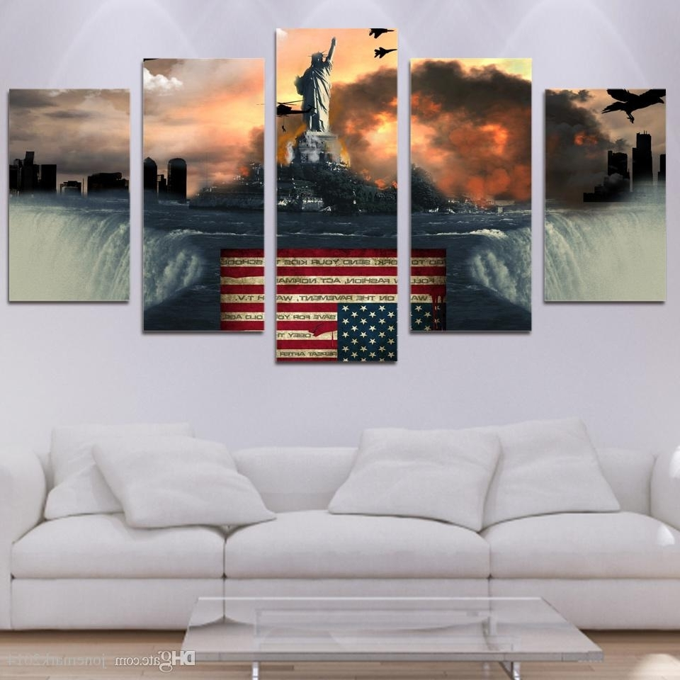 Trendy Bird Framed Canvas Wall Art Intended For 2018 Framed Hd Printed Flag Bird Eagle Wall Art Canvas Print Poster (View 20 of 20)