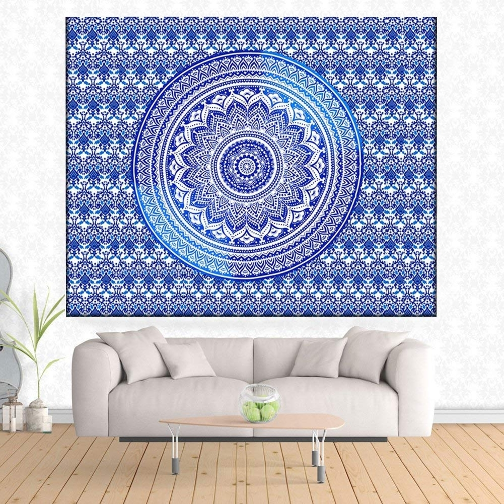 Trendy Bohemian Wall Art In Indian Tapestry Bohemian Wall Hanging Wall Art Tapestries Bedroom (View 18 of 20)