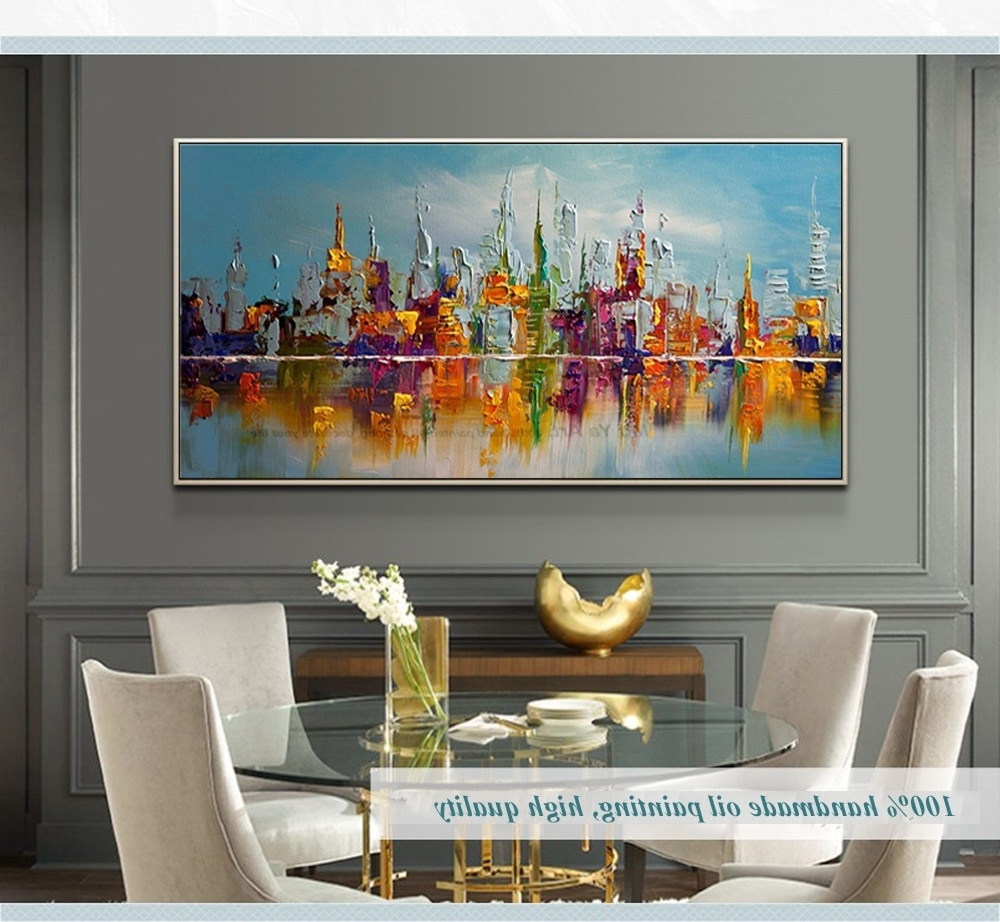 Trendy Cheap Large Canvas Wall Art Intended For Large Canvas Wall Art Abstract Modern Decorative Pictures New York (View 17 of 20)