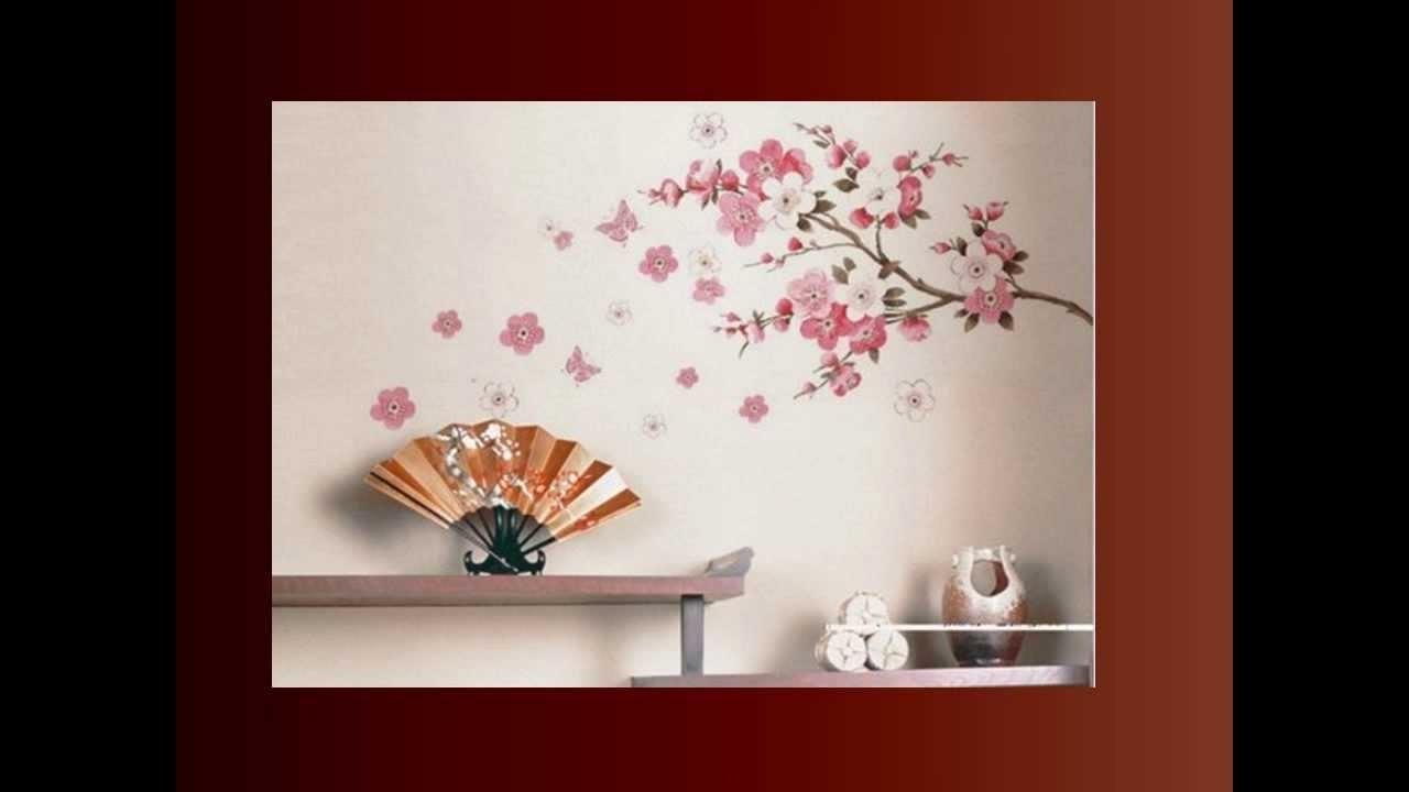 Trendy Cherry Blossom Wall Art – Youtube Intended For Cherry Blossom Wall Art (View 17 of 20)