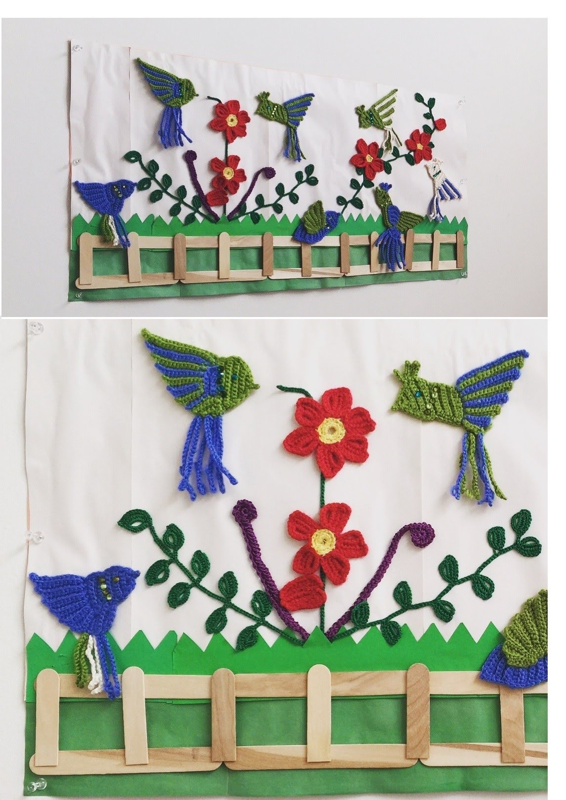 Trendy Crochet Appliques – Crochet Wall Decor – Youtube For Crochet Wall Art (View 8 of 20)