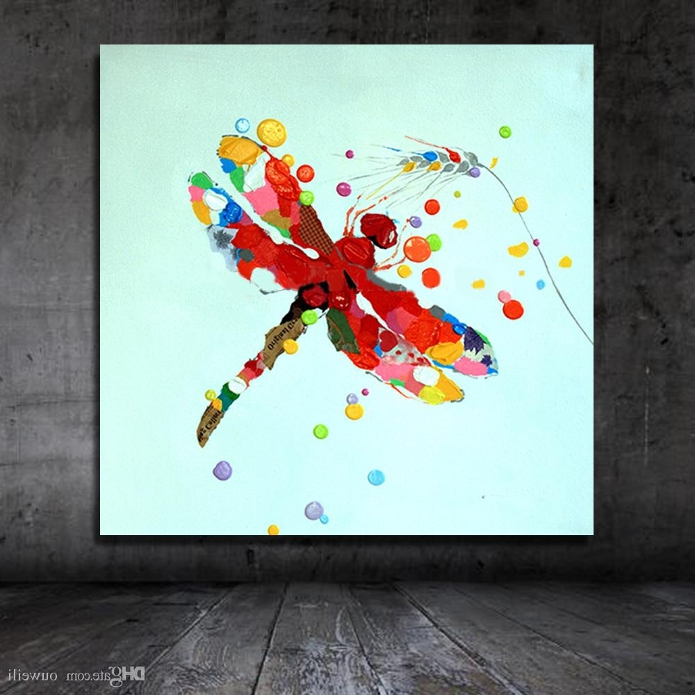 Trendy Dragonfly Painting Wall Art Intended For 2018 Traditional Designs Of Fabric Painting Cartoon Animal Dragonfly (View 14 of 20)