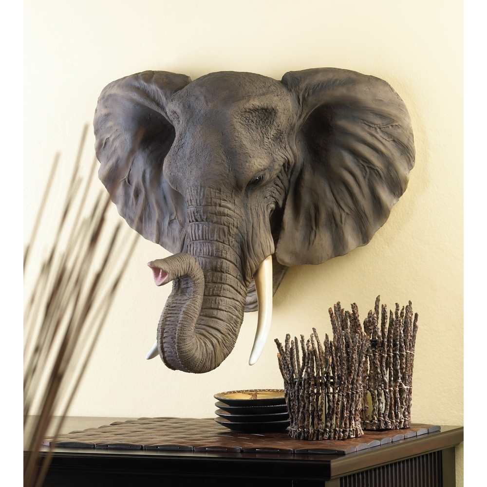 Trendy Elephant Wall Art Regarding Personalized House Plaques, Bathroom Wall Art Decor Noble Elephant (Gallery 13 of 15)