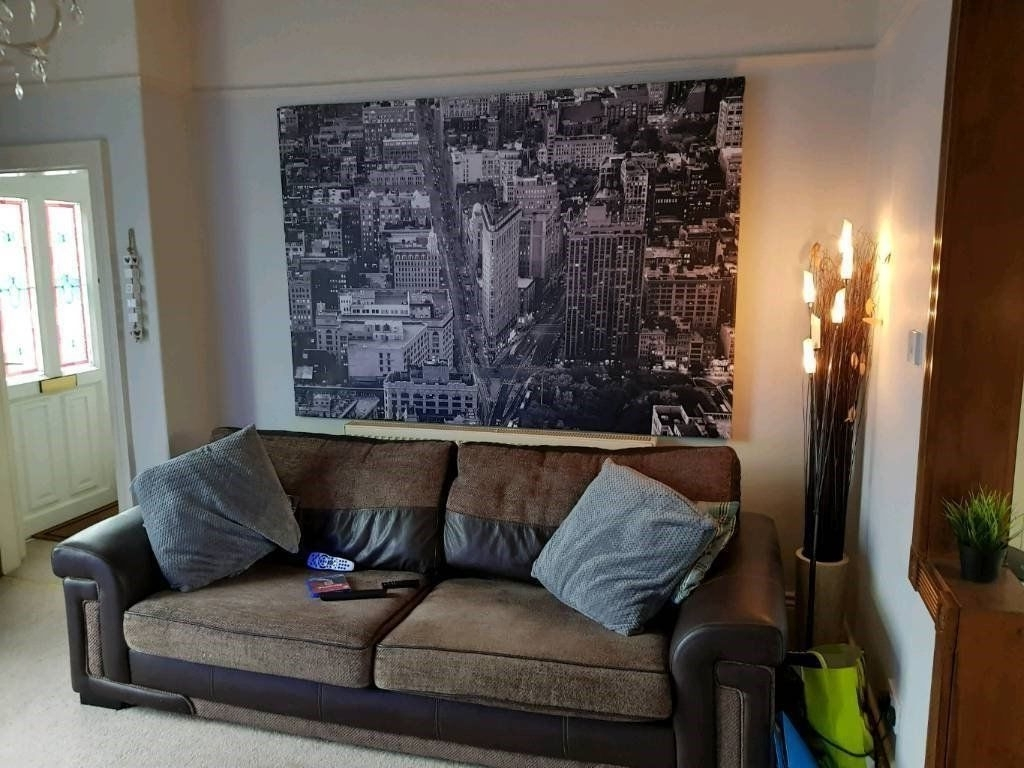 Trendy Extra Large Ikea Canvas Framed Picture New York Wall Art Rrp £100 Pertaining To New York Wall Art (Gallery 14 of 20)