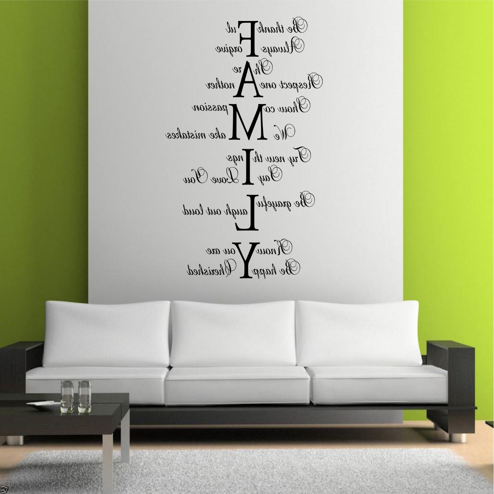 Trendy Family Love Life Wall Art Sticker Quote Room Decal Mural Transfer Pertaining To Family Wall Art (Gallery 2 of 15)