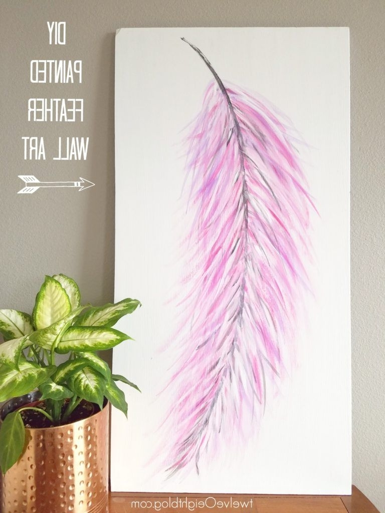 Trendy Feather Wall Art Throughout Well I Wish I Had A Better Reason Than Just Being Plain Old Crazy (View 18 of 20)