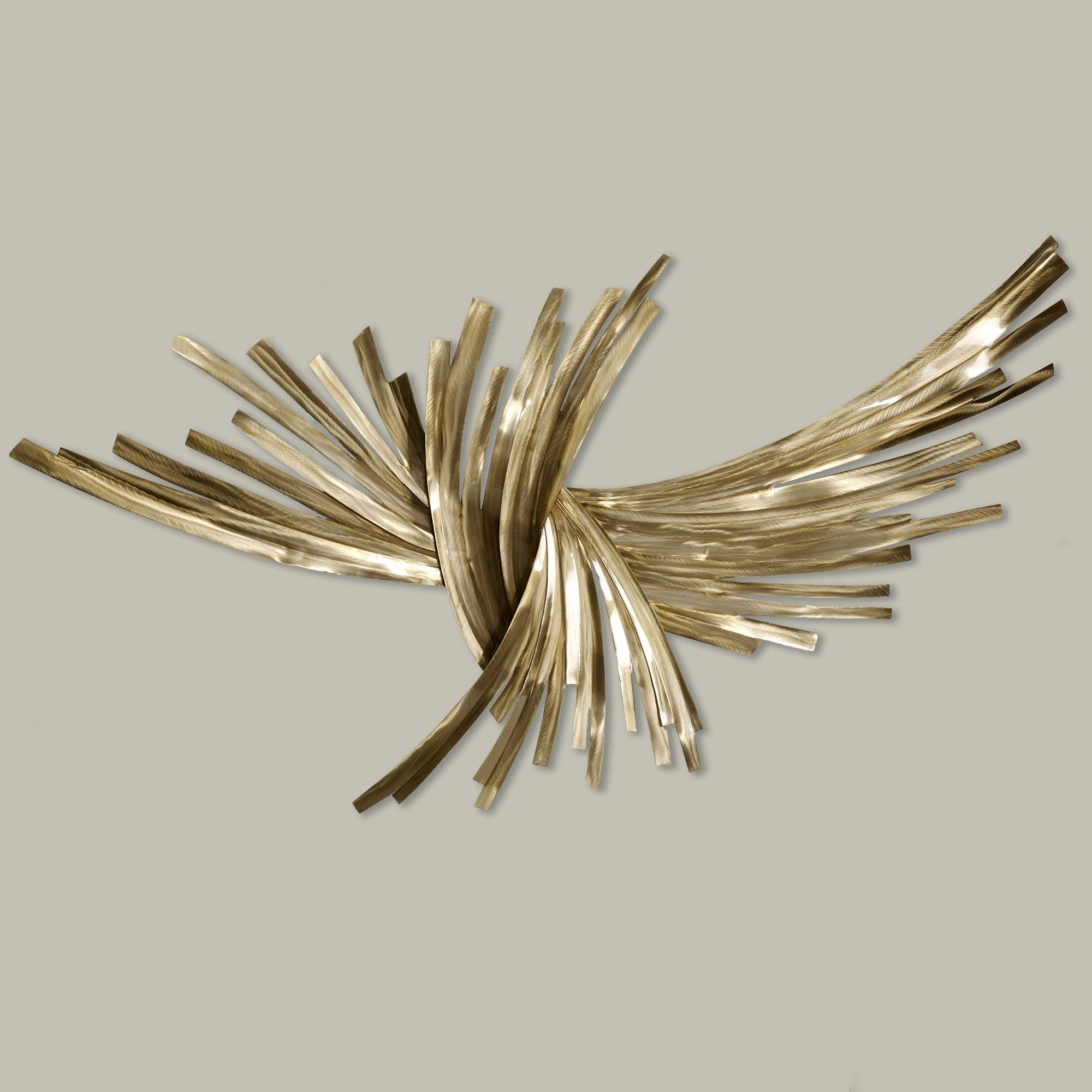 Trendy Gold Metal Wall Art Regarding Infinity Gold Metal Wall Sculpture (View 12 of 15)