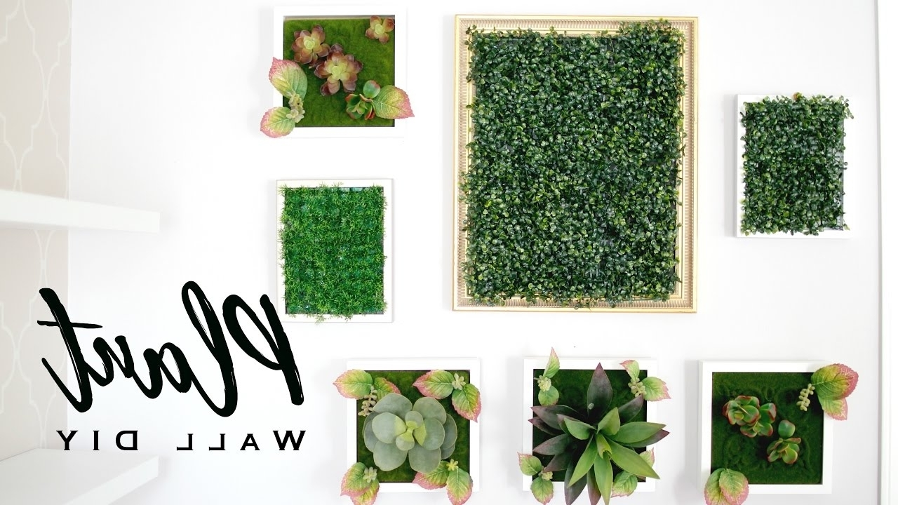 Trendy Green Wall Art Pertaining To Diy Faux Plant Wall Art – Youtube (Gallery 12 of 20)