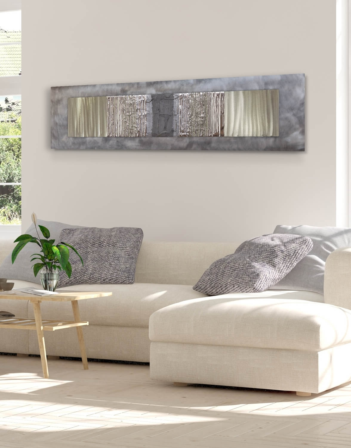 Trendy Grey Wall Art In Champagne Crushed Grey (View 14 of 20)