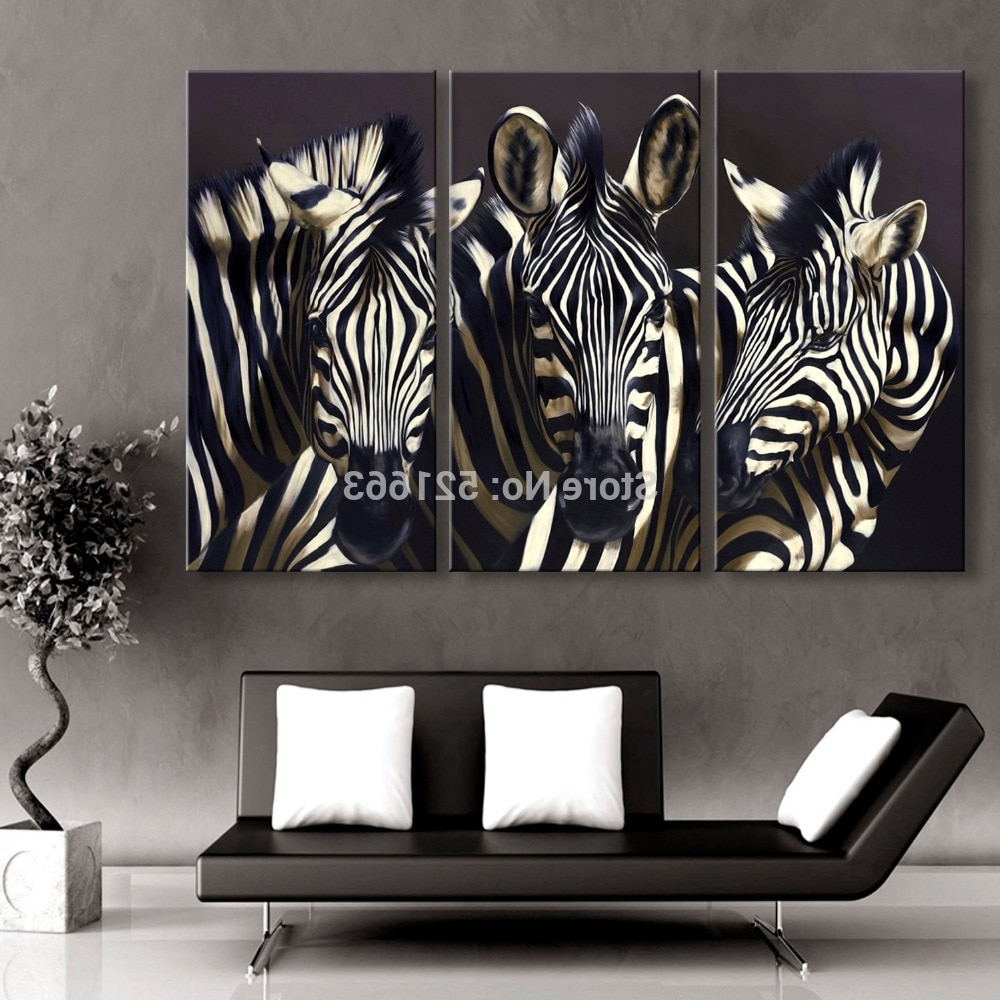 Trendy Hd Animal Canvas Art Print Painting Poster, Print Wall Pictures For With Zebra Canvas Wall Art (View 8 of 20)
