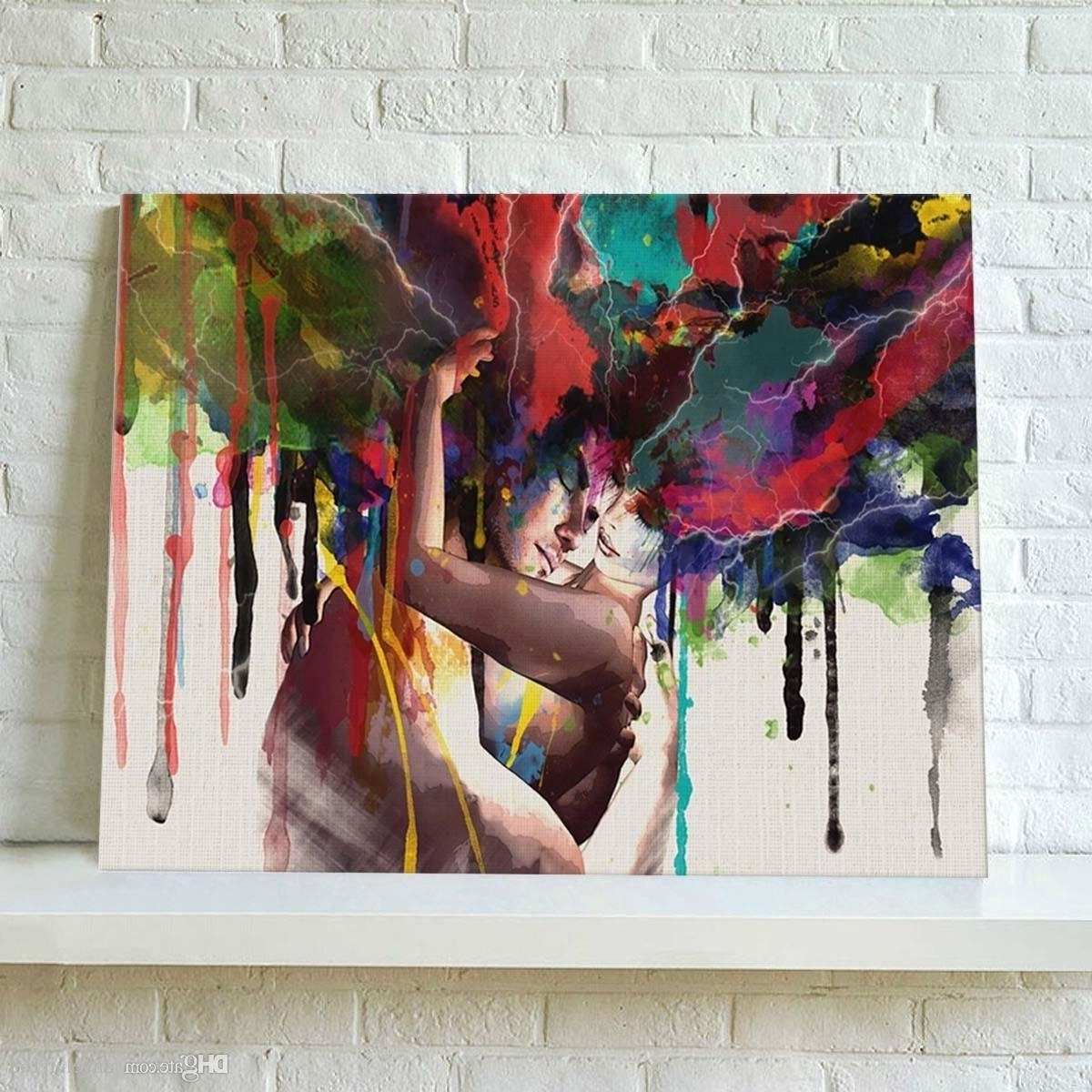 Trendy Modern Abstract Painting Wall Art In 2018 Modern Oil Painting No Frame Abstract Couple Canvas Lovers (Gallery 4 of 20)