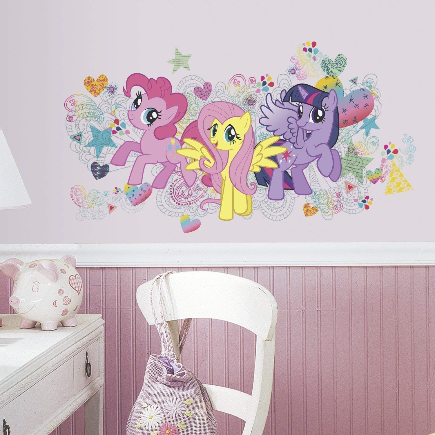 Trendy My Little Pony Wall Art With Regard To Roommates Rmk2708gm My Little Pony Wall Graphix Peel And Stick Giant (View 2 of 20)