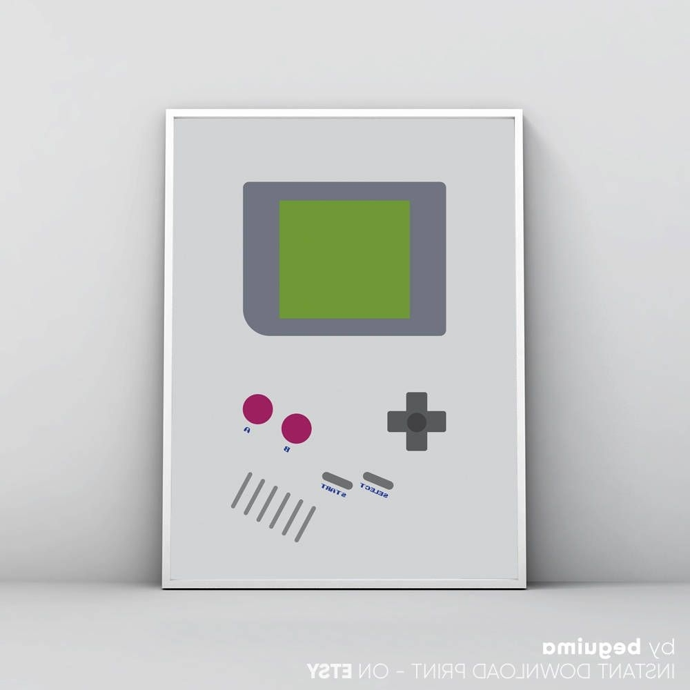 Trendy Nintendo Wall Art Regarding Inspired Game Boy Print, Nintendo Wall Art, Videogames Poster, Geek (View 20 of 20)