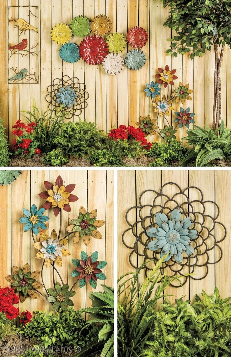 Trendy Outdoor Wall Decor 6 Diy Garden Art Gorgeous L For Trendy Outdoor Wall Art (View 13 of 15)