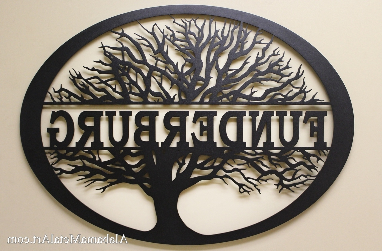 Trendy Personalized Metal Wall Art Inside Family Tree Personalized Metal Wall Art, Family Metal Wall Art (View 17 of 20)