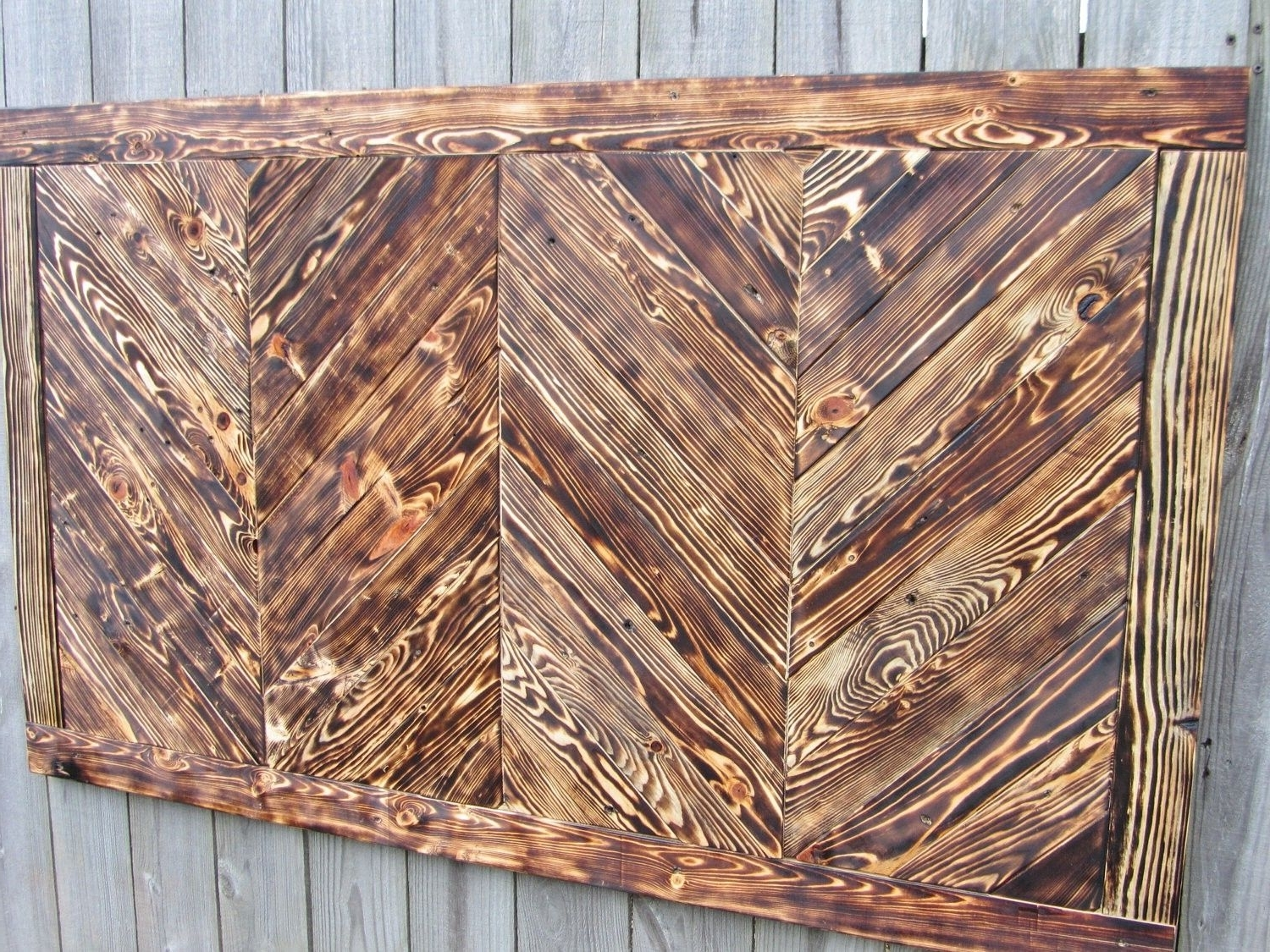 Trendy Personalized Wood Wall Art Regarding Hand Crafted Chevron Wood Wall Art Made From Reclaimed Pallet Wood (View 19 of 20)