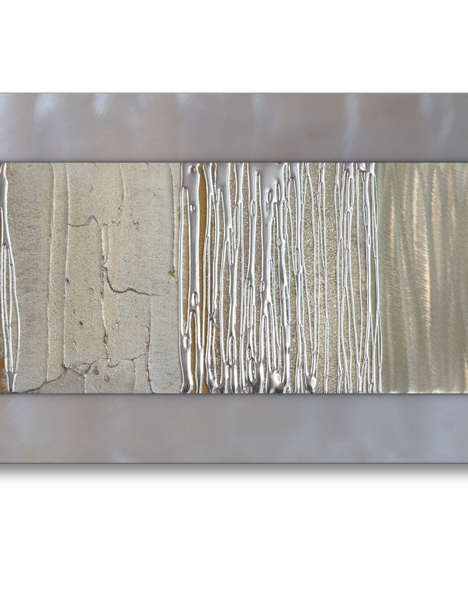 Trendy Silver Wall Art Intended For Echo Champagne – Silver Wall Art, Contemporary Art Uk (View 17 of 20)