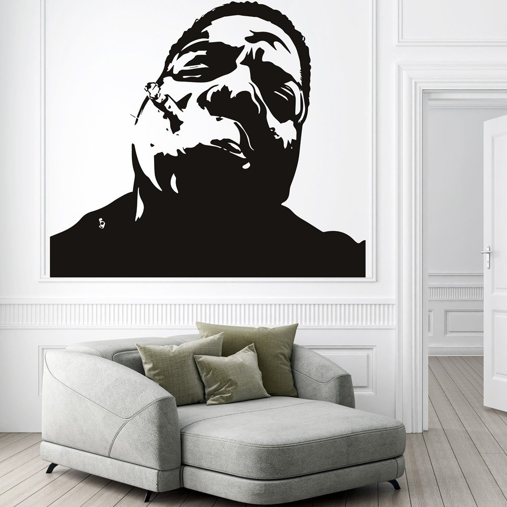 Trendy Wall Art Decals Pertaining To Notorious Big Wall Sticker Rap Music Wall Decal Icon Celebrity Home (View 12 of 15)