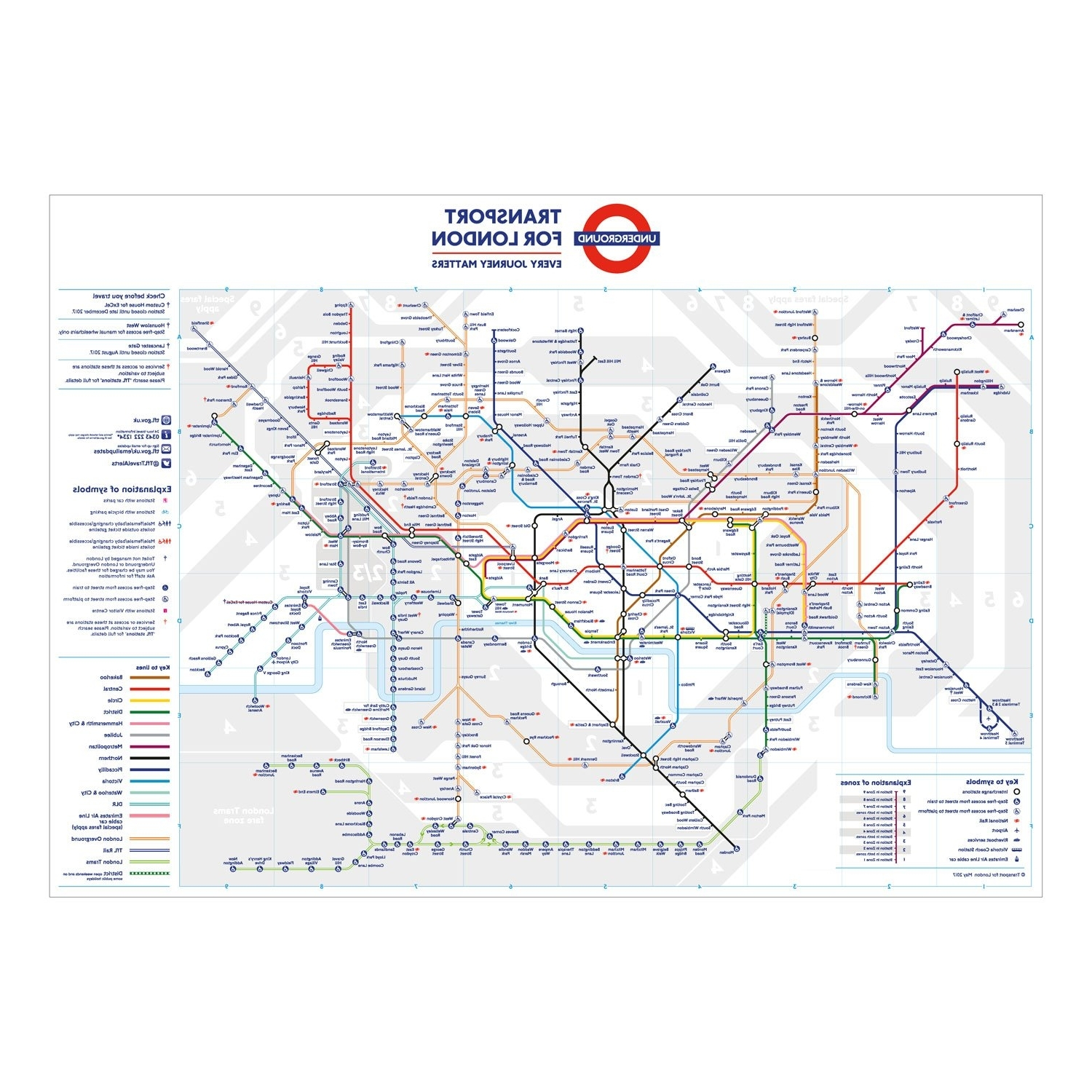 Tube Map Wall Art In Fashionable Wall Art London Map: Amazon.co (View 15 of 20)