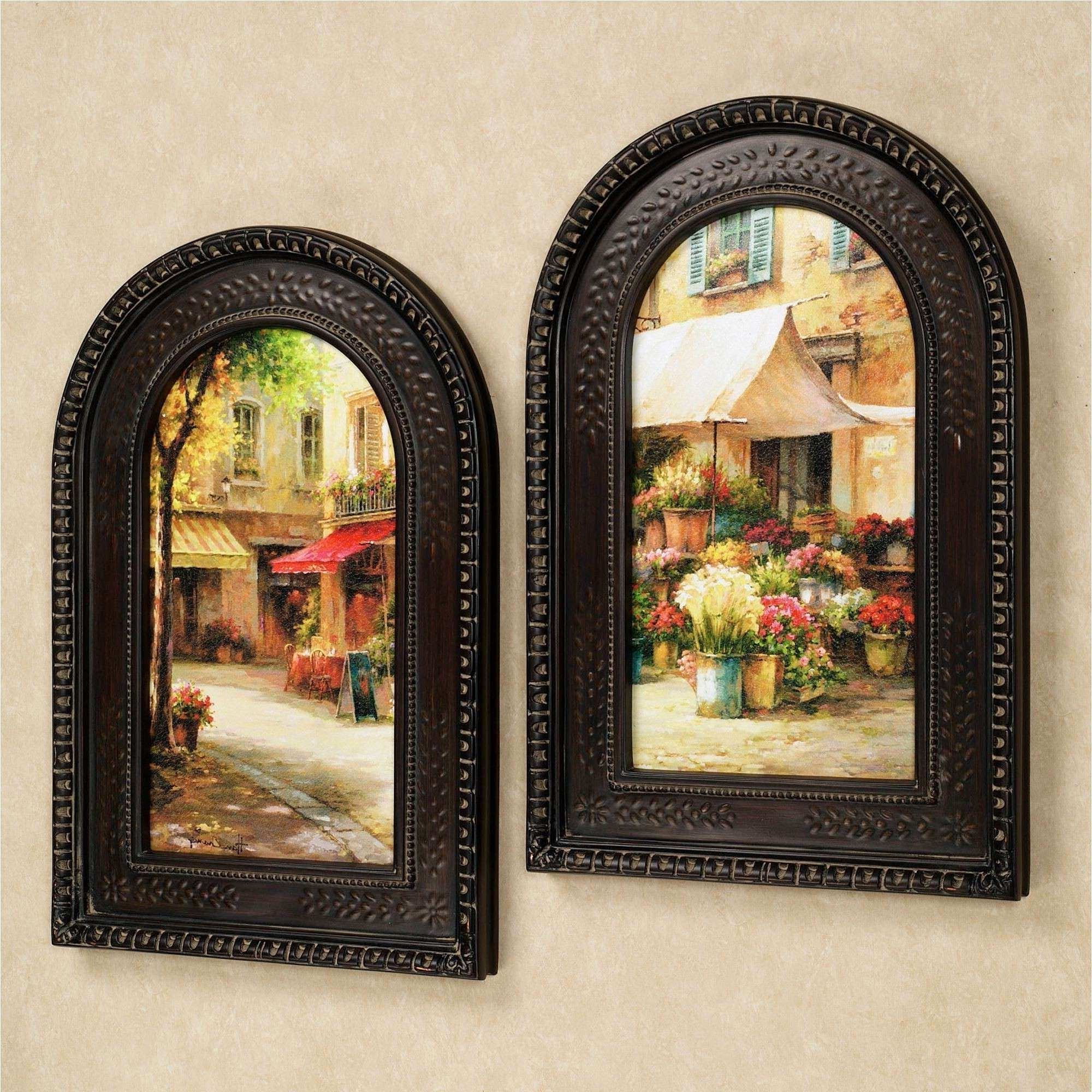 Tuscan Wall Art New The Flower Market Arched Framed Wall Art Set Within Current Tuscan Wall Art (View 16 of 20)