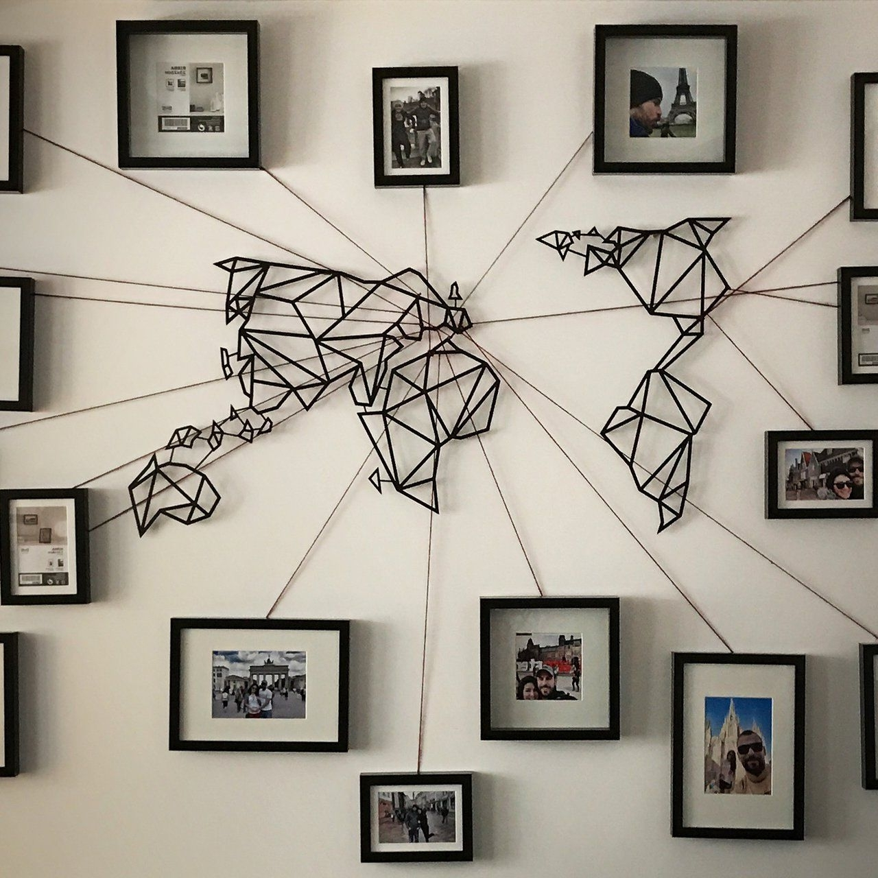 Unique Wall Art Regarding Widely Used Unique Wall Art World Map – Wall Decoration Ideas (Gallery 8 of 15)