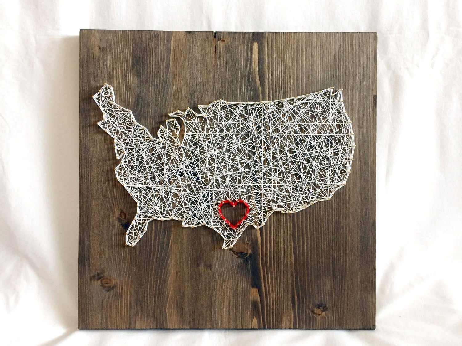 United States Within 2018 String Map Wall Art (View 20 of 20)
