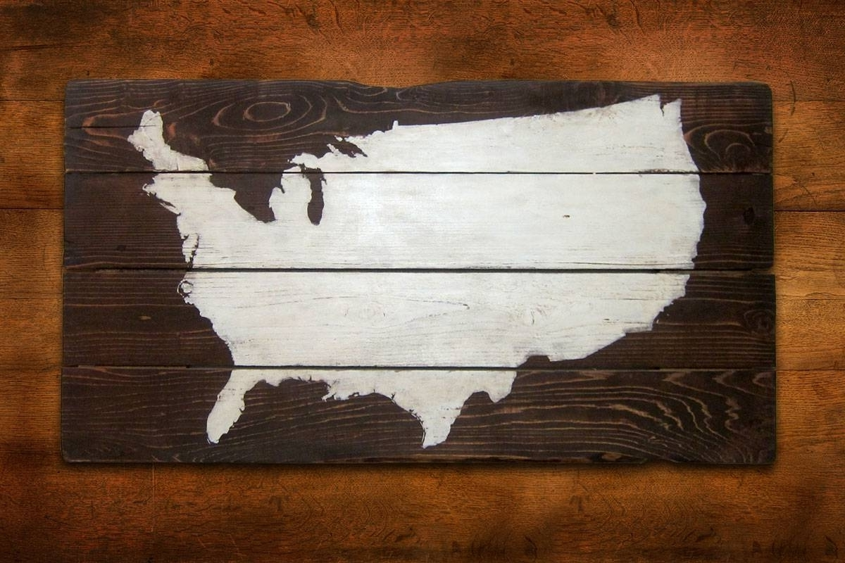 Usa Map Wall Art Regarding Widely Used Us Map Wall Cute Wall Art Usa – Wall Decoration Ideas (View 14 of 20)