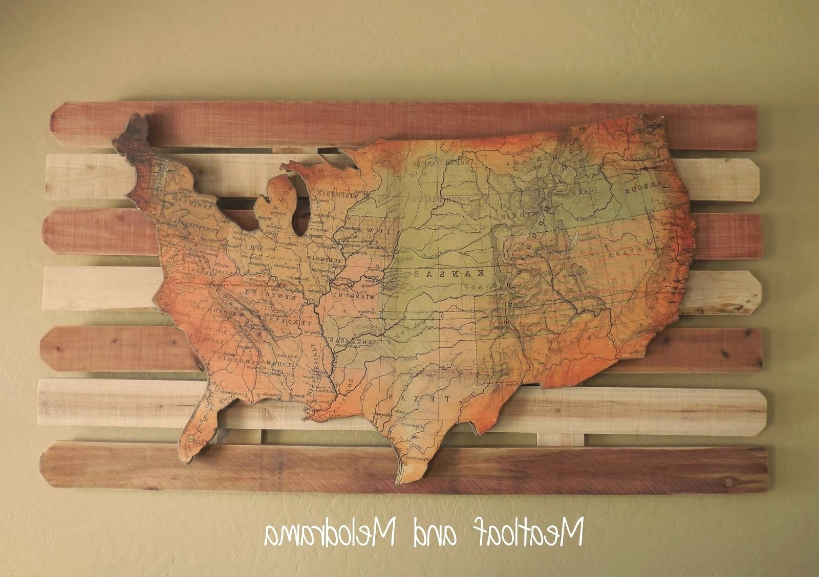 Usa Map Wall Art Throughout Trendy Explore Photos Of Usa Map Wall Art Showing 4 20 For Wooden United (Gallery 2 of 20)
