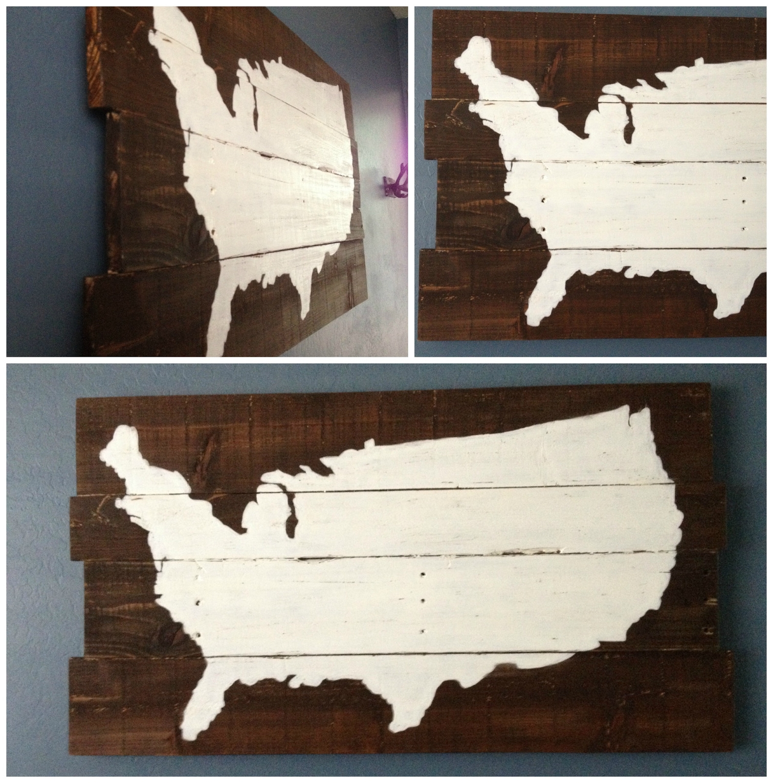 Usa Map Wall Art With Well Known Pottery Barn Usa Map Wall Art Best Of Diy Map Sign Rustic Painted (View 11 of 20)