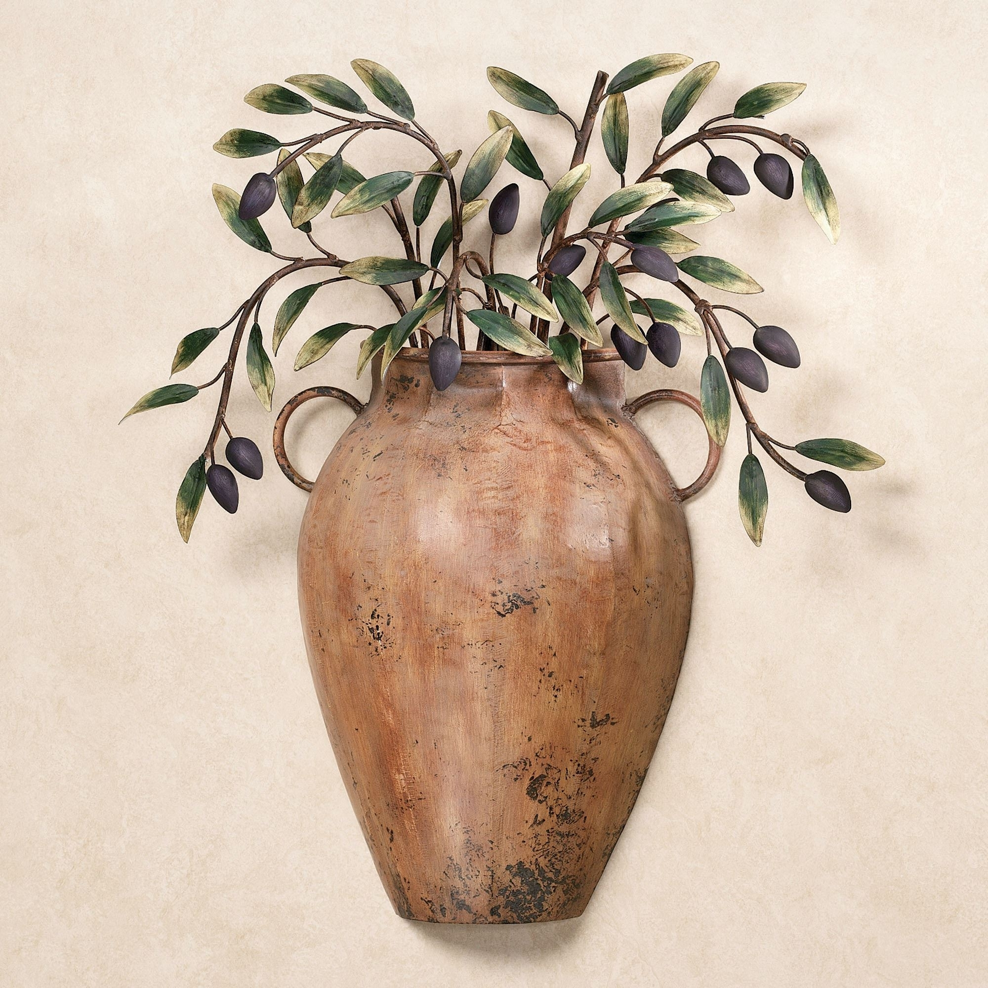 Valetta Vaso Con Olives Metal Wall Sculpture Within Most Up To Date Kitchen Metal Wall Art (View 6 of 20)