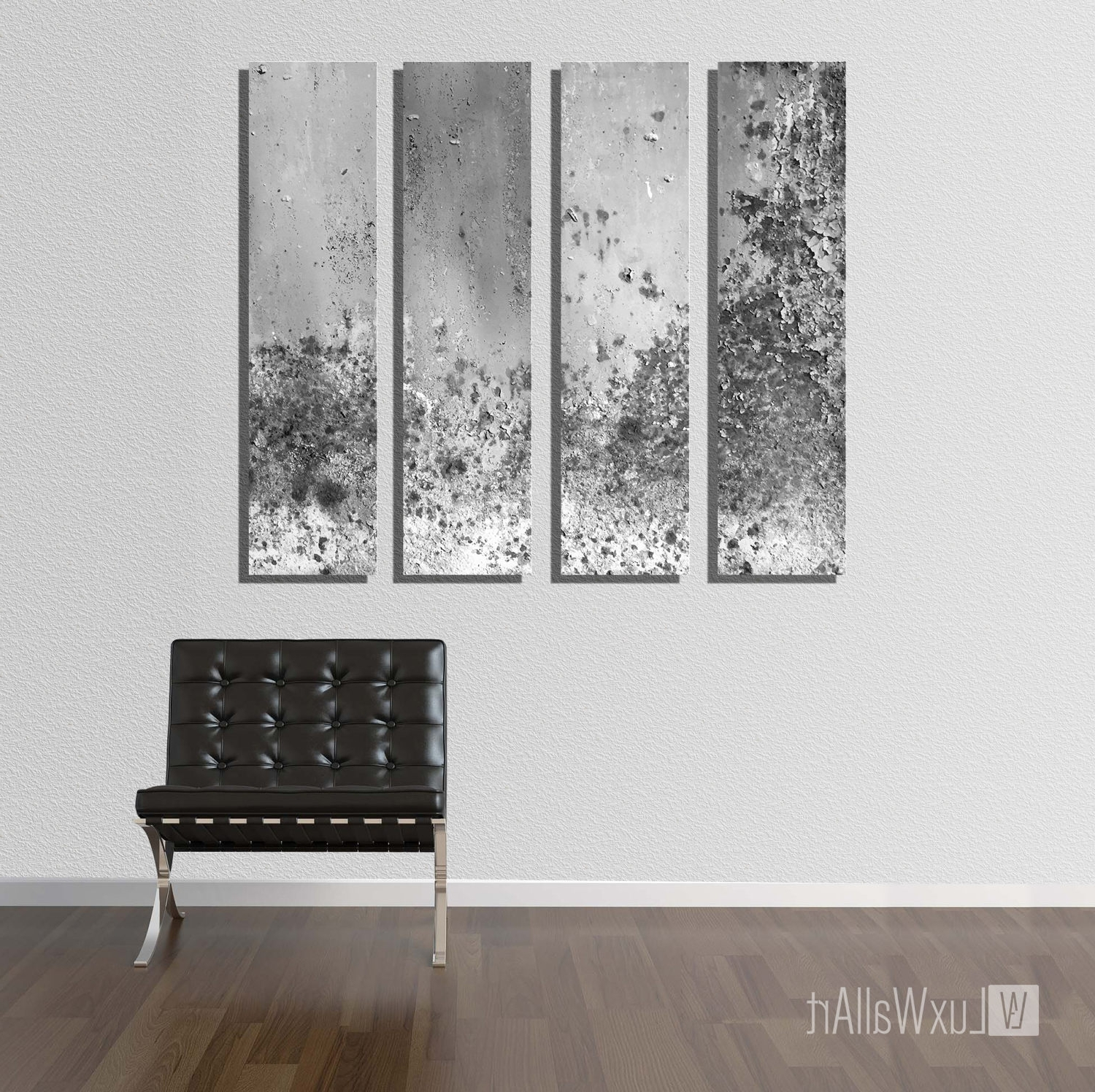 Vertical Metal Wall Art For Preferred Silver Large Vertical Thin Panel Metal Abstract Wall Art (Gallery 10 of 20)