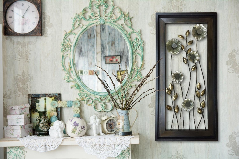 Vertical Metal Wall Art Regarding 2018 Metal Wall Art Wood Framed Flowers Mirrors Home Decor Large Vertical (Gallery 12 of 20)