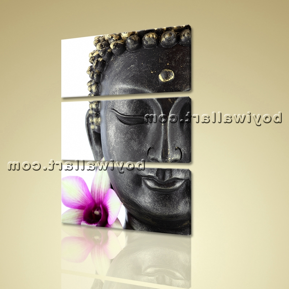 Vertical Wall Art Intended For Most Up To Date Large Feng Shui Buddha Canvas Contemporary Wall Art Print Vertical (View 10 of 20)