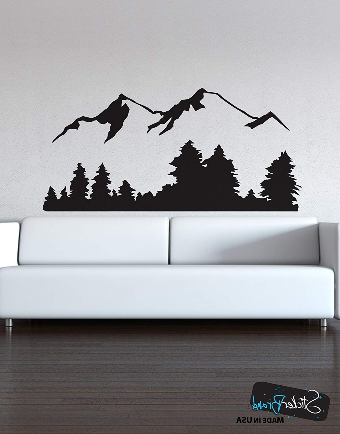 Vinyl Wall Art In Most Current Amazon: Stickerbrand Landscapes Vinyl Wall Art Snowy Mountain (Gallery 3 of 15)