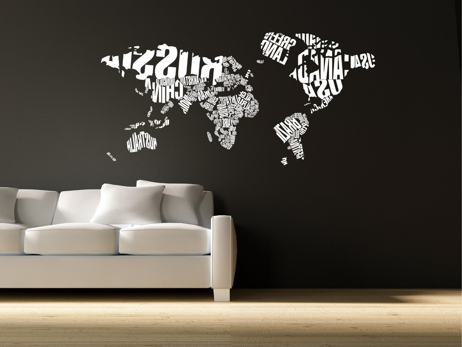 Vinyl Wall Art World Map Inside Popular Articles With World Map Decor Wood Tag Wall Design For – Scrapsofme (View 16 of 20)