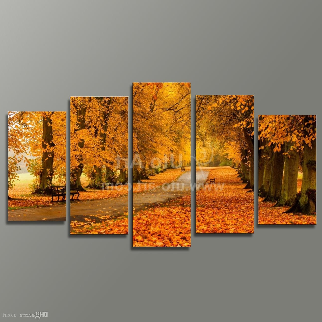 Wall Art Canvas Pertaining To Famous Best Modern Modular Paintings On Canvas 5 Panel Wall Art Painting Of (View 13 of 15)