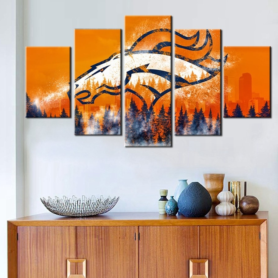 Wall Art Decorative Pertaining To Most Recent Broncos Wall Art (View 6 of 20)