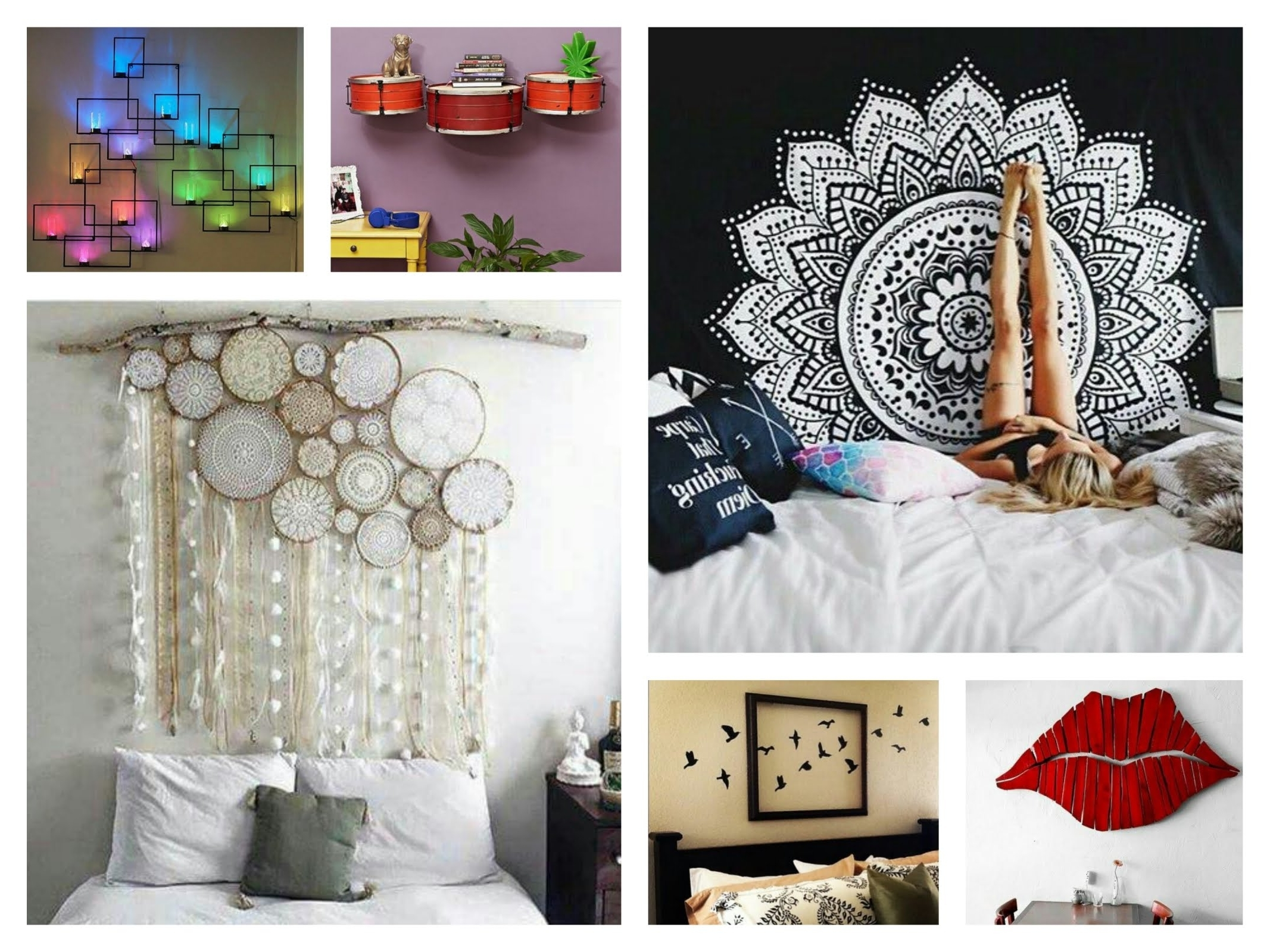 Wall Art Decors Intended For Fashionable Creative Wall Decor Ideas – Diy Room Decorations – Youtube (View 5 of 15)