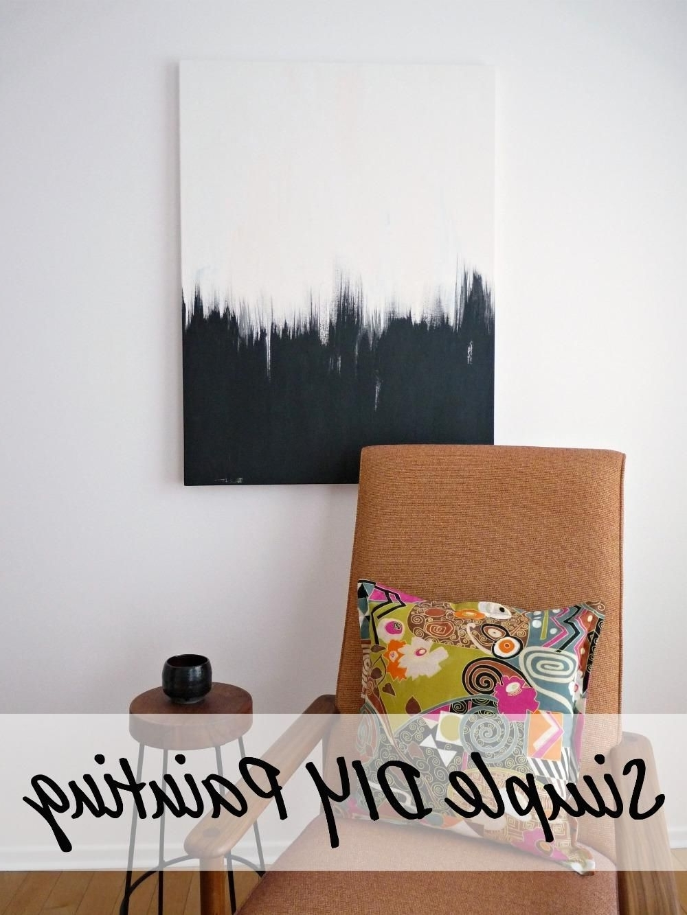 Wall Art Diy In Popular Diy Wall Art: Simple But Striking Diy Black And White Wall Art (View 13 of 20)