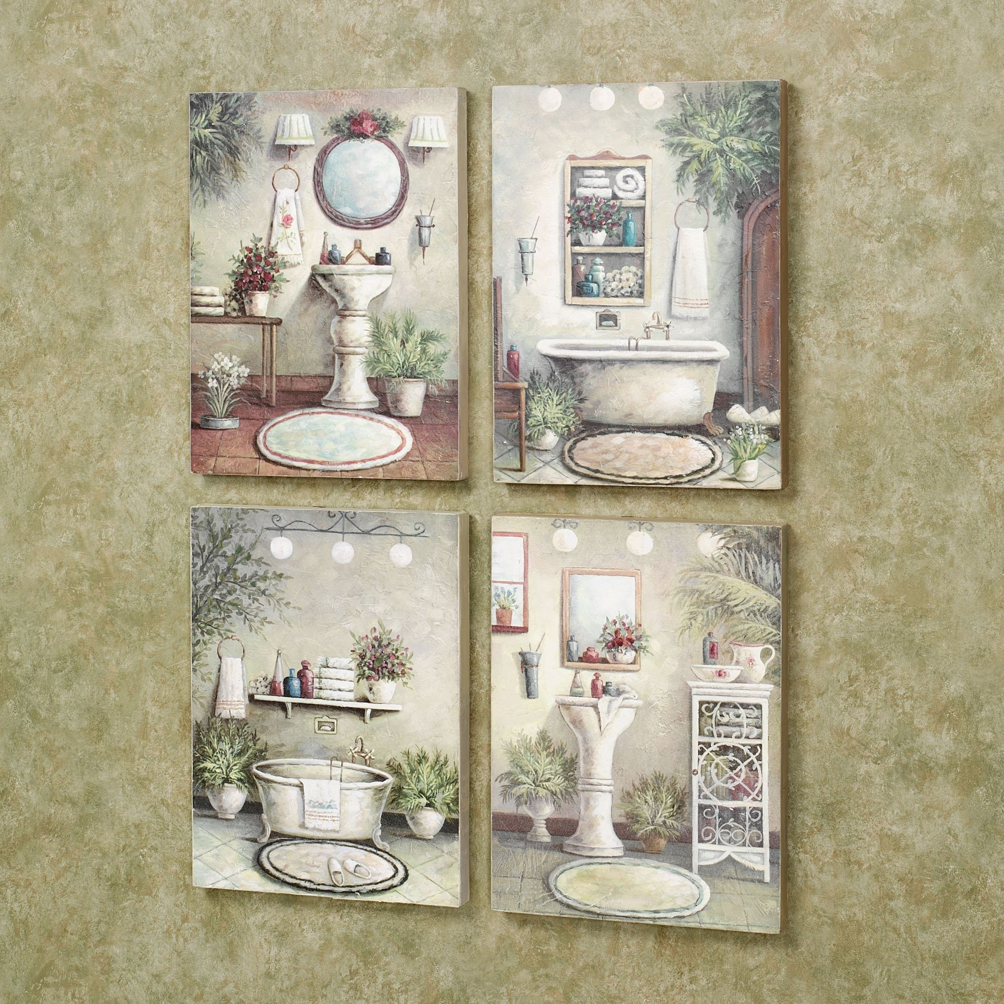 Wall Art For Bathroom For Famous Bathroom Bliss Wooden Wall Art Plaque Set (Gallery 16 of 20)
