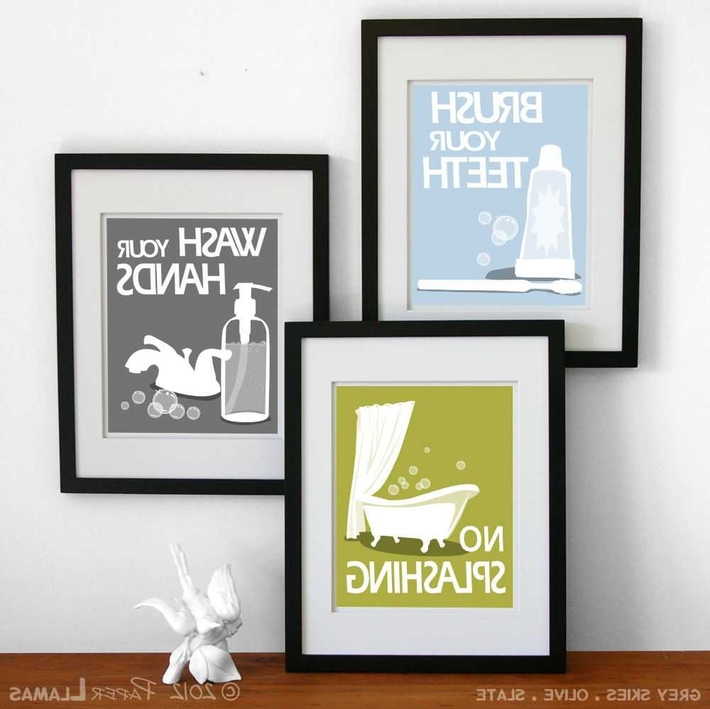 Wall Art For Bathrooms Pictures Including Outstanding Decals Decor Within Recent Bathroom Wall Art Decors (View 13 of 15)