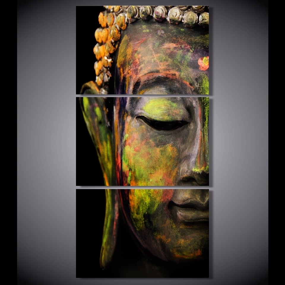 Wall Art Paintings Inside Favorite Buddha Oil Painting Wall Art Paintings Picture Paiting Canvas Paints (View 16 of 20)