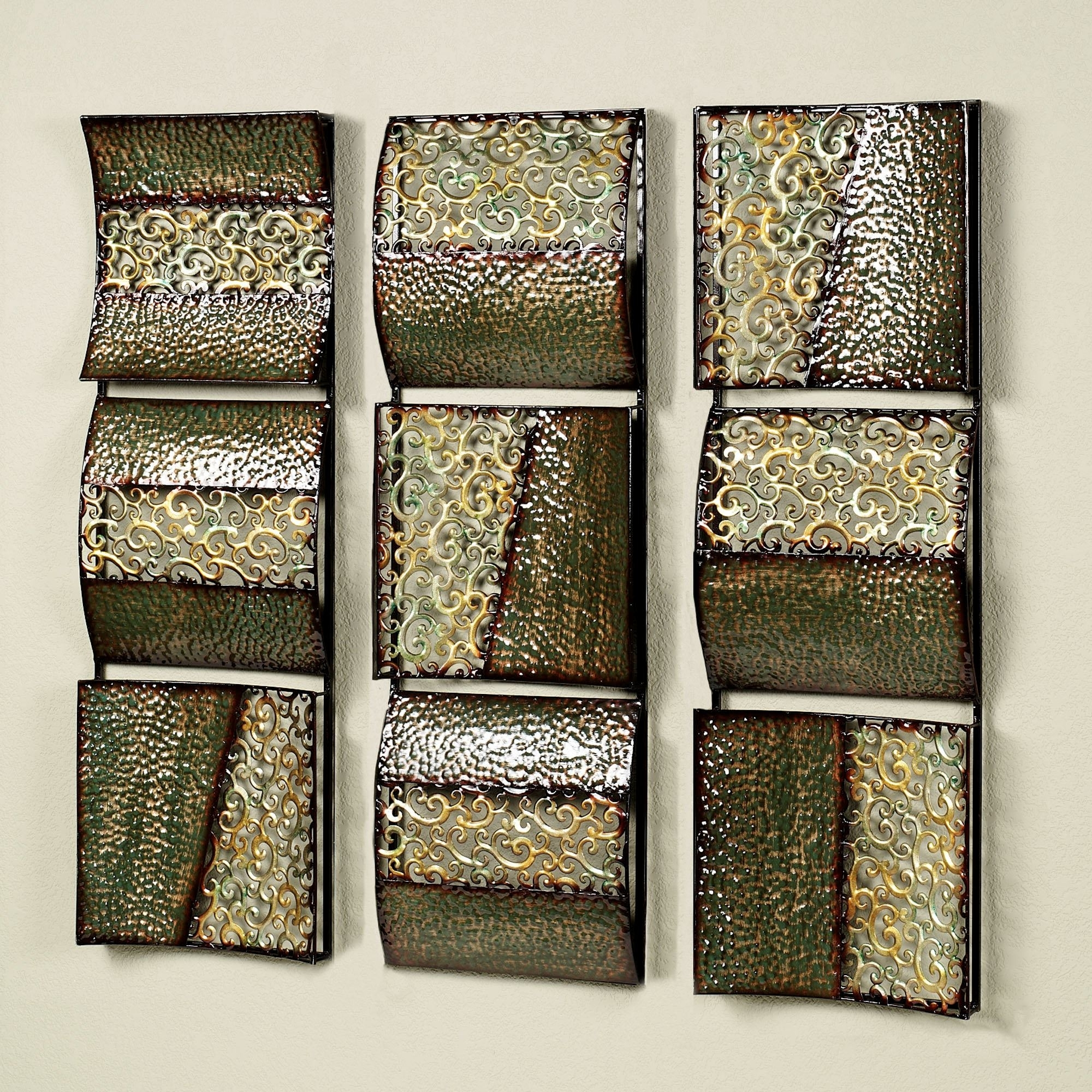 Wall Art Panels Within Most Popular Intermission In Green Metal Wall Art Panel Set (View 15 of 20)