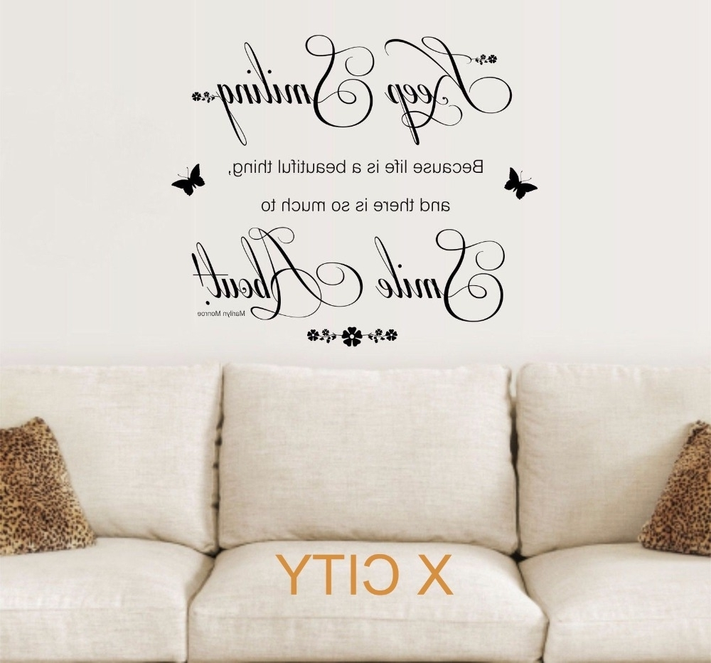 Wall Art Quotes For Preferred Unique Stencil Wall Art Quotes Collection (Gallery 18 of 20)