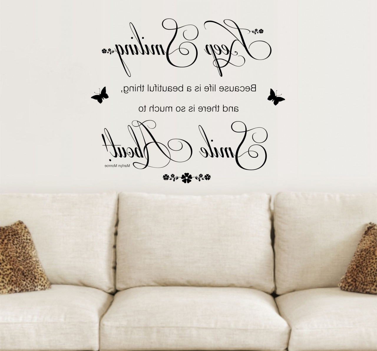 Wall Art Sayings With Regard To Best And Newest Awesome Home Decor Sayings Walls Gallery (View 15 of 20)