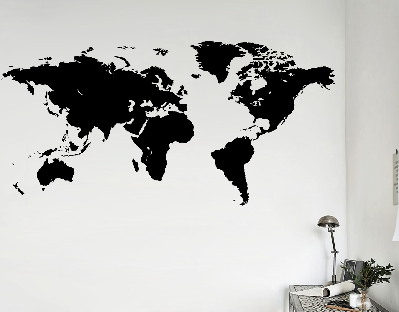 Wall Art Stickers World Map Pertaining To Well Liked World Map – Your Decal Shop (View 4 of 20)