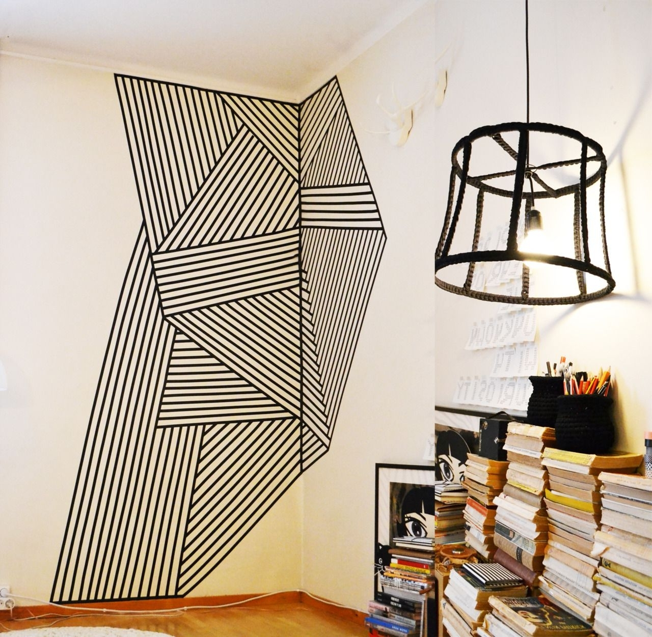 Featured Photo of Washi Tape Wall Art