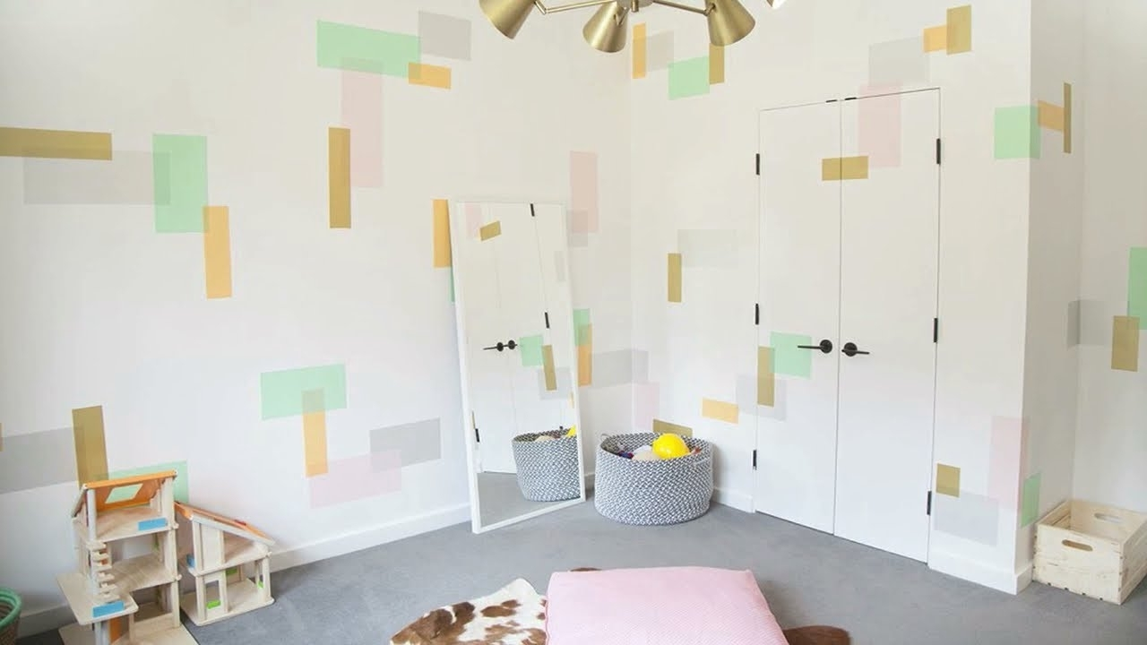 Washi Tape Wall Art Regarding Recent Washi Tape Wall Art In The Playroom – Youtube (Gallery 8 of 20)